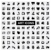 Link toHuge collection of black and white icons vector 13