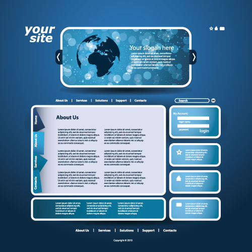 Blue Web Templates. blue web templates free download free website ...
