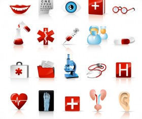 Different Medical Tools icons vector