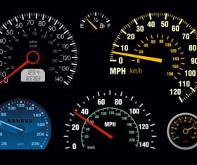 Color Speedometer vector