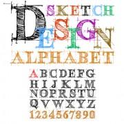 Link toHand drawn alphabets design vector 01