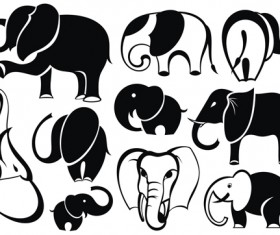 lovely Animals Vector Silhouettes 03