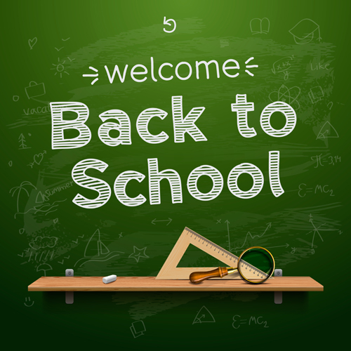 back to school creative background 04 vector background