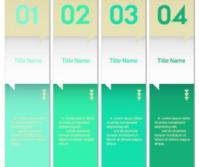 Numbers Banners design vector set 01