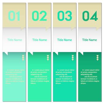 Numbers Banners design vector set 01