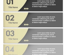 Numbers Banners design vector set 02