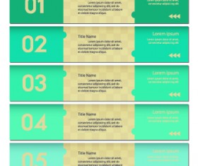 Numbers Banners design vector set 03