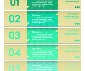 Numbers Banners design vector set 04