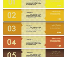 Numbers Banners design vector set 05