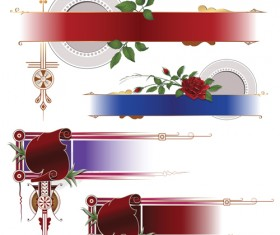 Banners with Decorative vector 01