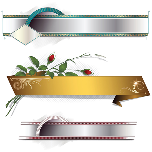 Banners with Decorative vector 04
