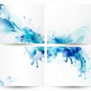 Link toBlue flower backgrounds vector 01