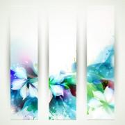 Link toBlue flower backgrounds vector 02
