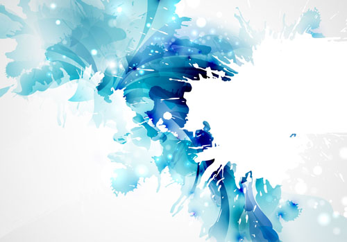 Blue flower backgrounds vector 03 - Vector Background free ...