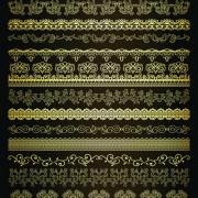 Link toRetro lace borders vector set 01