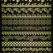 Link toRetro lace borders vector set 02