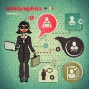 Link toBusiness infographic creative design 208
