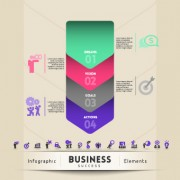 Link toBusiness infographic creative design 266