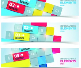 Creative Business banners elements vector 02