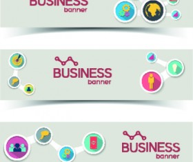Creative Business banners elements vector 03