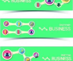 Creative Business banners elements vector 04