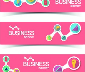 Creative Business banners elements vector 05