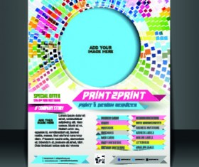 Business flyer and brochure cover design vector 66