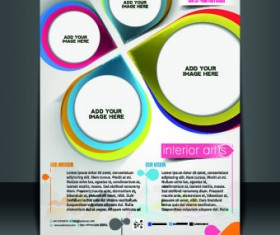 Business flyer and brochure cover design vector 67