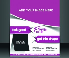 Business flyer and brochure cover design vector 75