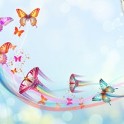 Link toButterflies with music vector background 01
