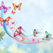 Link toButterflies with music vector background 03
