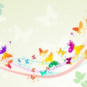 Link toButterflies with music vector background 05