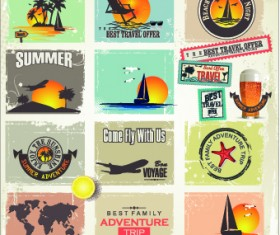 Camping Label vector 05