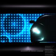 Link toCar lighting background vector 04
