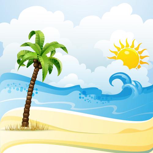 http://freedesignfile.com/upload/2013/08/Cartoon-Tropical-Beach-vector-01.jpg