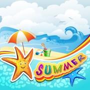 Link toCartoon tropical beach vector 04