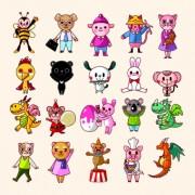 Link toLovely cartoon animals vector set 01