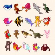 Link toLovely cartoon animals vector set 05