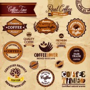 Link toClassic coffee labels design vector 01