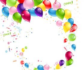 Shiny Color Balloons vector 01