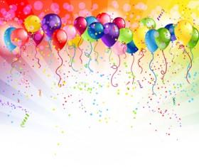 Shiny Color Balloons vector 02