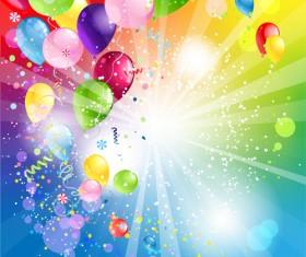 Shiny Color Balloons vector 03