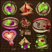 Link toDifferent retro wine labels vector