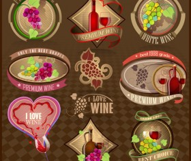 Elegant Wine Labels vector 01