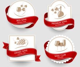 Elegant Wine Labels vector 03
