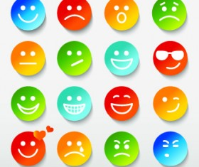 Different Face Expression icon vector 01