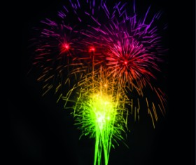 Fireworks Effect background vector 01
