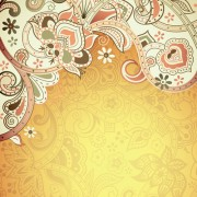 Link toFloral patterns retro style background 01