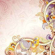 Link toFloral patterns retro style background 02