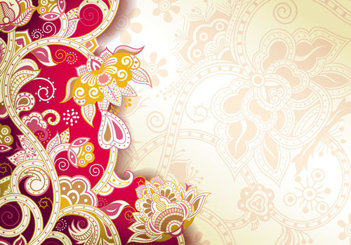 Floral Patterns retro style background 04 - Vector ...